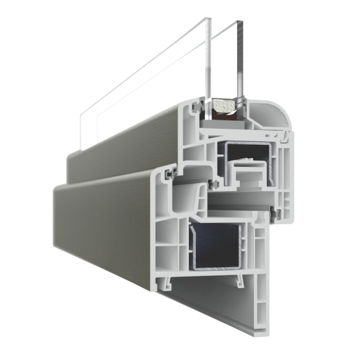 Nodo finestra in PVC con rinforzo in alluminio