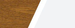 Combinazione di colori quercia/bianco per finestra bicolore