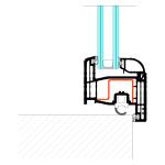 Schema installazione a gradino per porte finestra