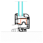Schema installazione telaio PVC con soglia per porte finestra